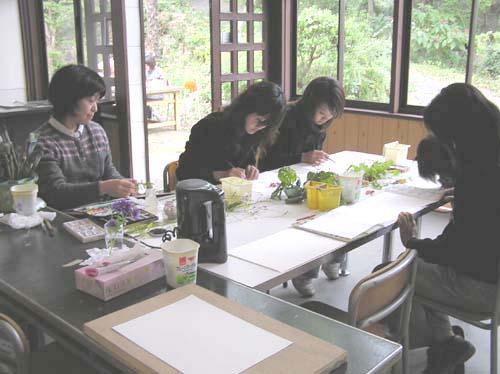 紫陽花と絵画展