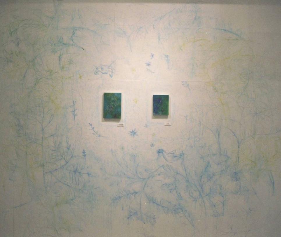 2、だんだん壁に絵を描いていく のが楽しくなってきました